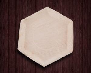Hexagon Ecoplates,Palm leaf plates