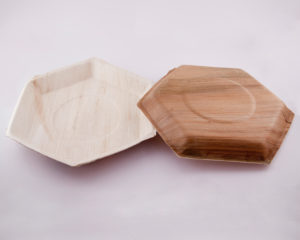 Hexagon Ecoplates,Palm leaf plates