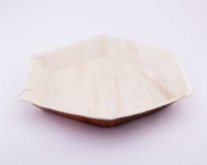 Eco Friendly Hexagon Areca Palm leaf plates,Biodegradable Hexagon plates