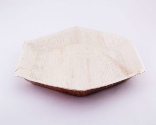 Eco Friendly Hexagon Areca Palm leaf plates,Biodegradable Hexagon plates
