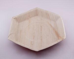 Biodegradable Hexagon palm plates